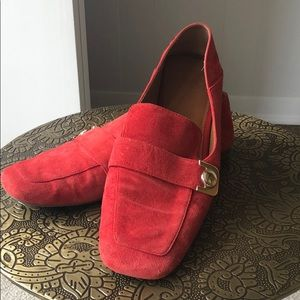 Franco Sarto | Red suede loafers | size 8.5